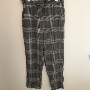Plaid Paperbag waist trousers